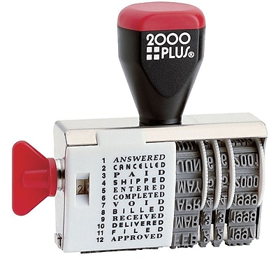 2000PLUS® Dial-N-Stamp, Traditional Date & Message Stamp,