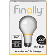Finally 100W Equiv. Acandescent A19 Lightbulb, Soft White