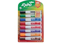 Expo® Magnetic Dry Erase Markers with Eraser, Chisel Tip, Assorted, 8/pk (1944741)