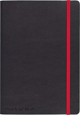 Black n' Red™ Stitched Business Journal, Soft Cover, Ruled, 71 Sheets, A5, 8 1/4