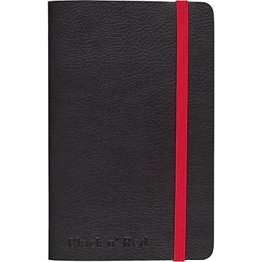 """BLACK by Black n' Red™ Business Notebook 71 Sheets A6 5-1/2"""" x 3-1/2"""" Black (400065001)"""