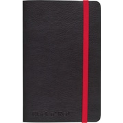 """BLACK by Black n' Red™ Business Notebook, 71 Sheets, A6, 5-1/2"""" x 3-1/2"""", Black"""