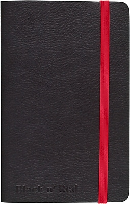 "BLACK by Black n' Red™ Business Notebook 71 Sheets A6 5-1/2"" x 3-1/2"" Black (400065001)"