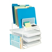 Staples® All-in-One White Zigzag Desk Organizer