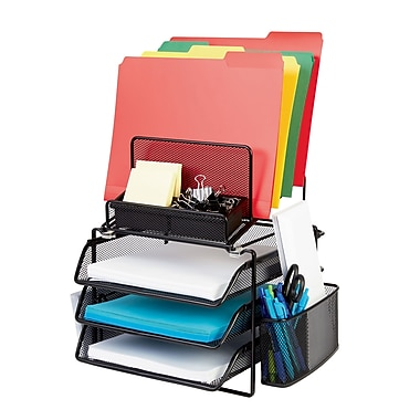 Staples 174 All In One Black Wire Mesh Desk Organizer Staples 174