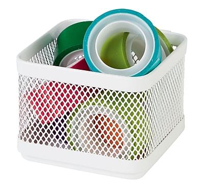 Staples® Small Storage Box, Hanging White Mesh