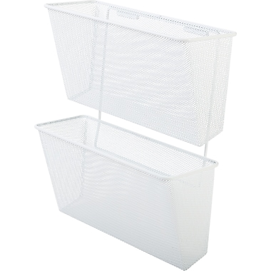 Hanging Wall Files staples® wall files, hanging white mesh | staples®