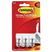 Command™ Small Wire Hooks, White, 3/Pack