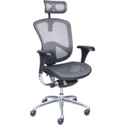 Serta Rincon Mesh Computer And Desk Office Chair, Fixed Arms, Gray/Silver  (46024)