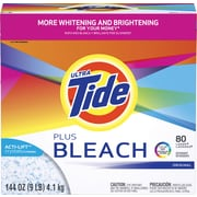 Ultra Tide® Plus Bleach Powder Laundry Detergent, Original Scent, 144 Oz.