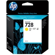 HP 728 40-ml Yellow DesignJet Ink Cartridge (F9J61A)