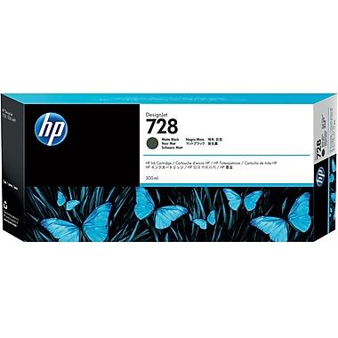 HP 728 Ink Cartridge, Inkjet, Matte Black, (F9J68A)