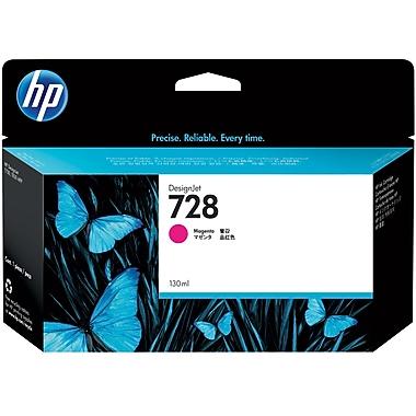 HP 728 Ink Cartridge, Inkjet, Magenta, (F9J66A)