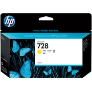 HP 728 130-ml Yellow DesignJet Ink Cartridge (F9J65A)