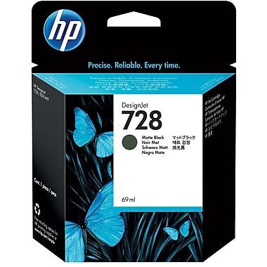 HP 728 Ink Cartridge, Inkjet, Matte Black, (F9J64A)