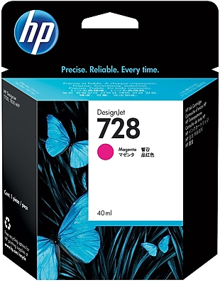 HP 728 40-ml Magenta DesignJet Ink Cartridge (F9J62A)