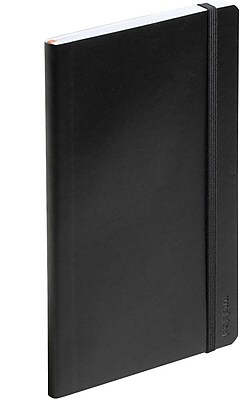 Poppin Black Medium Softcover Notebooks, Set of 25