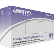 Ambitex® Powder-Free Disposable Vinyl Exam Gloves, Small