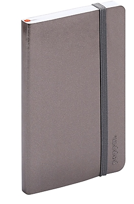 Poppin Gunmetal Small Softcover Notebooks, Set of 25