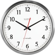 La Crosse Technology 404-1235UA-SS 14 Inch UltrAtomic Analog Wall Clock - Silver