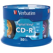 Verbatim 94587 700 MB CD-R Spindle, 50/Pack