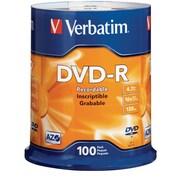 Verbatim 95102 4.7 GB DVD-R Spindle, 100/Pack