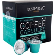 Bestpresso® Compatible Nespresso® Pods, Decaffeinatio Blend, Light Intensity, 20 Capsules per Box (BEST-05DECAF)