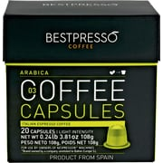 Bestpresso® Compatible Nespresso&erg; Pods, Arabica Blend, Light Intensity, 20 Capsules per Box (BEST-03ARAB)