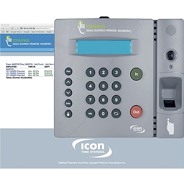 Icon Time Systems TotalPass Small Business Biometric Time Clock