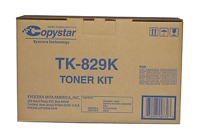 Kyocera KYOTK829K Black Toner Cartridge