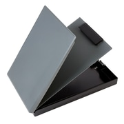 Staples Plastic Document Case and Clipboard with Privacy Cover, Charcoal