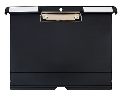 Staples Plastic Filing Clipboard, Letter Size, Black