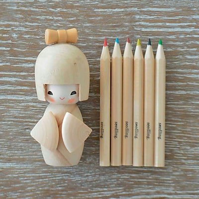 Seedling Colour Me Kokeshi Doll