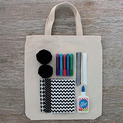 Seedling DIY Black and White Tote Bag
