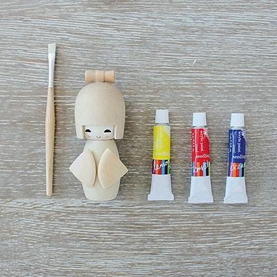 Seedling Paint Me Kokeshi Doll