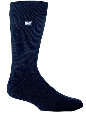 Drew Brady Men's Heat Holders Original Crew Length Thermal Socks - Navy