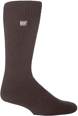 Drew Brady Men's Heat Holders Original Crew Length Thermal Socks - Charcoal