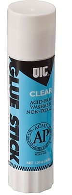 OIC Clear Glue Sticks, Large, 1.3 oz.