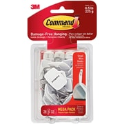 Command™ Wire Hooks Mega Pack, Small, 28 hooks/32 strips per pack