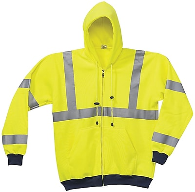 Occunomix International LLC Yellow Wicking Hoodie Sweat-Shirt, L