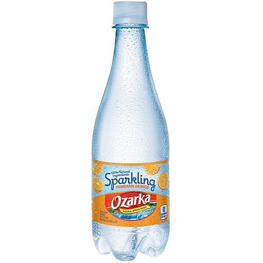 36cf775a55 OZARKA Brand Sparkling Natural Spring Water, Mandarin Orange 16.9-ounce  Plastic Bottle, 24 /Case   Staples