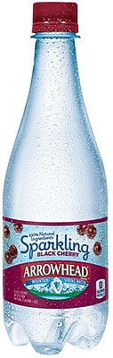 ARROWHEAD Brand Sparkling Mountain Spring Water, Black Cherry 16.9 Ounce Plastic Bottle, 24/Pack (12241150)