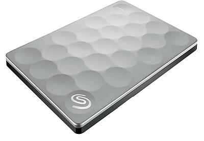 Seagate STEH1000100 1TB USB 3.0 Portable Backup Plus Ultra Slim Hard Drive Platinum (STEH1000100)