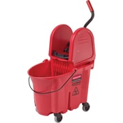 Rubbermaid WaveBrake® 2.0 Mop Bucket with Down-Press Wringers Combo, 35 Quart, Red (RCPFG758888RD-1)
