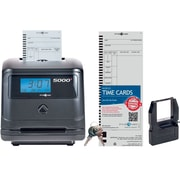 Pyramid 5000, 100 Employee, Auto Totaling Time Clock, Black (5000)