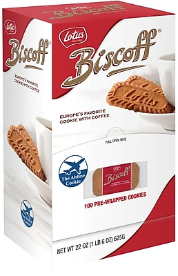 Biscoff Cookies, .22 oz. Packs, 100 Packs/Box