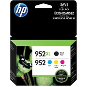 HP 952XL High Yield Black/952 C/M/Y Color Ink Cartridges (N9K28AN#140), Combo 4/Pack