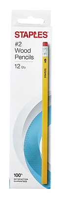 Staples® #2 Wood Pencils, Yellow, 12/pk (10504)