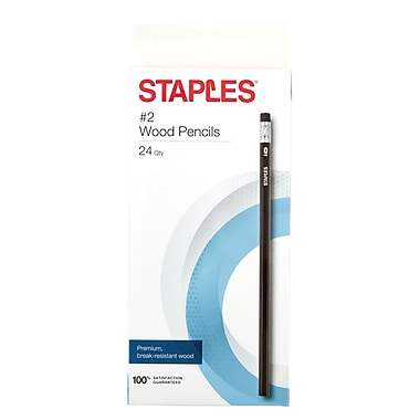 STAPLES® #2 WOOD PENCILS BLACK 24PK (29047)