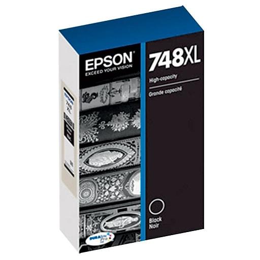 Epson 748XL Black Ink Cartridge, High Yield (T748XL120)